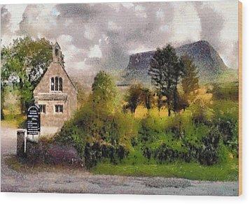 Mullaghnaneane Church And Ben Bulben Wood Print