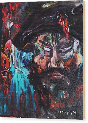 Mullah Madness Wood Print by Lee Anne Stieglitz
