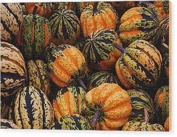 Multi Colored Acorns Wood Print by Jame Hayes
