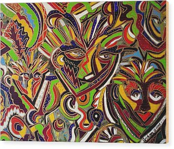 Multiple Personalities Wood Print