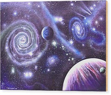 mULTIVERSE 219 Wood Print by Sam Del Russi