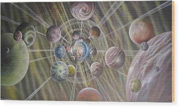Multiverse 582 Wood Print by Sam Del Russi