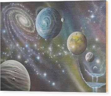 Multiverse 62 Wood Print by Sam Del Russi