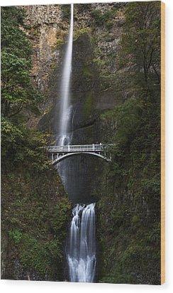Multonomah Falls Wood Print