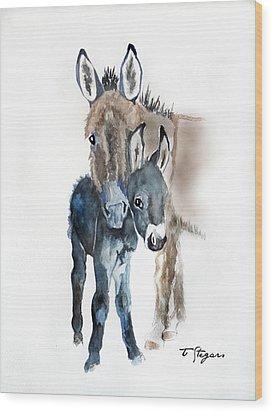 Mummy Donkey Wood Print