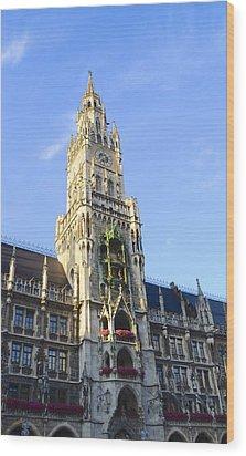 Wood Print featuring the photograph Munich Marienplatz by Corinne Rhode