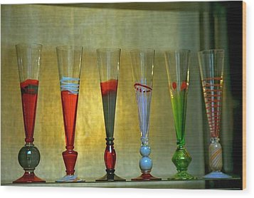 Murano Glasses In Venice Wood Print by Michael Henderson