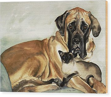 Murphy And Cody Wood Print by Eileen Hale