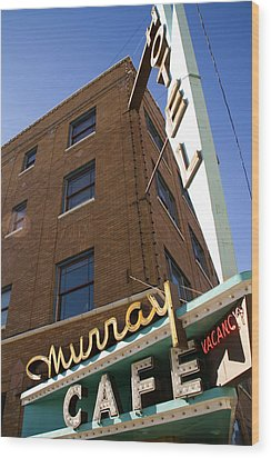 Murray Cafe And Hotel Wood Print by Rachel Barner