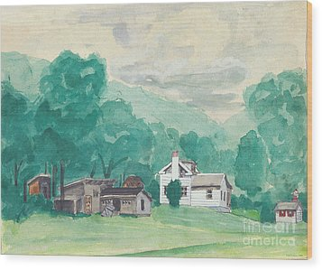 Murray Hollow Farm Wood Print by Fred Jinkins
