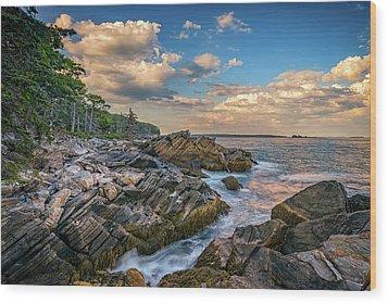 Muscongus Bay Wood Print by Rick Berk