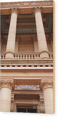 Museum And Art Gallery Entrance Wood Print by Stephen Melia
