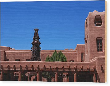 Museum Of Indian Arts And Culture Santa Fe Wood Print by Susanne Van Hulst