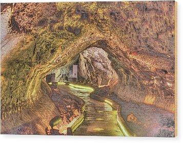 Mushpot Cave Wood Print by Richard J Cassato