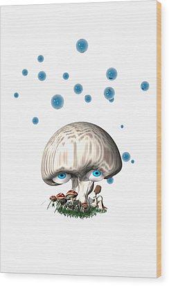 Mushroom Dreams Wood Print by Carol and Mike Werner