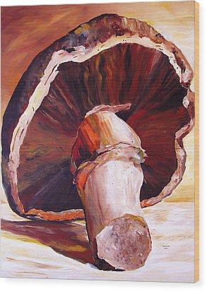 Mushroom Still Life Wood Print