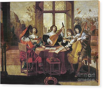 Music, 17th Century Wood Print by Granger