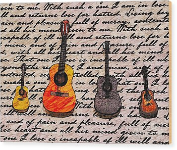 Music And Poetry By Jasna Gopic Wood Print by Jasna Gopic