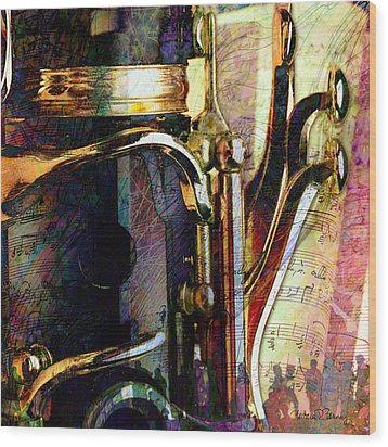 Music Wood Print by Barbara Berney