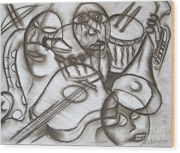 Music Dreams And Illusions Wood Print