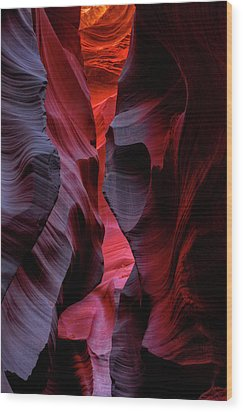 Music, Frozen In The Rocks 5 Wood Print