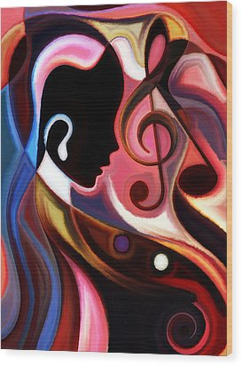 Music In The Air Wood Print by Karen Showell