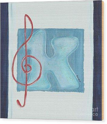 Music Note Wood Print by Celebratta Celebratta