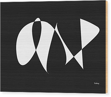 Wood Print featuring the digital art Music Notes 9 by David Bridburg