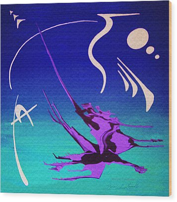 Wood Print featuring the painting Music Of Ojas by Robert G Kernodle