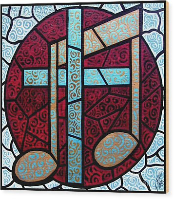 Wood Print featuring the painting Music Of The Cross by Jim Harris