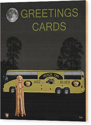 Music Tour Scream Wood Print by Eric Kempson