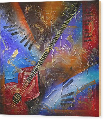 Musical Textures Series Wood Print by Andrea Tharin