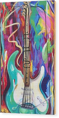 Musical Whimsy  Wood Print by Heather Roddy