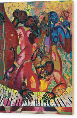 Musicfest Wood Print by Larry Poncho Brown