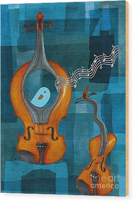 Musiko Wood Print by Aimelle
