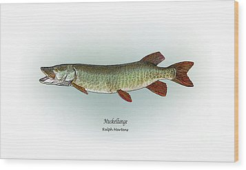 Muskellunge Wood Print by Ralph Martens