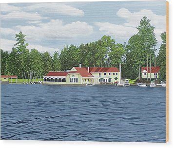 Wood Print featuring the painting Muskoka Lakes Golf And Country Club by Kenneth M Kirsch