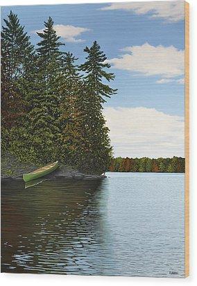 Muskoka Shores Wood Print