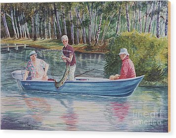 Musky Madness Wood Print by Marilyn Smith