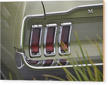 Mustang Fastback In Green Wood Print