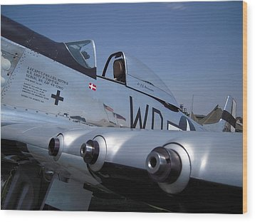 Wood Print featuring the photograph Mustang Persuasion by Don Struke