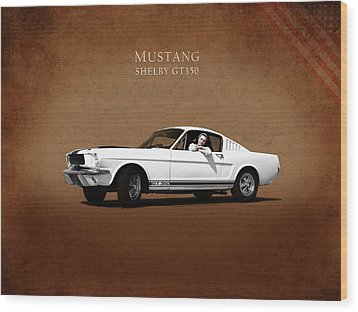 Mustang Shelby Gt 350 Wood Print by Mark Rogan