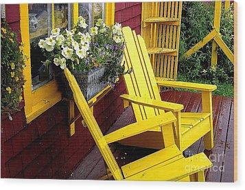 Mustard Mill Wood Print