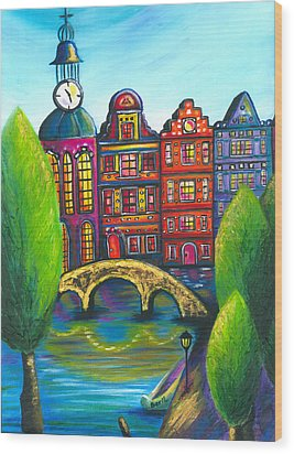 My Amsterdam Wood Print by Beryllium Canvas