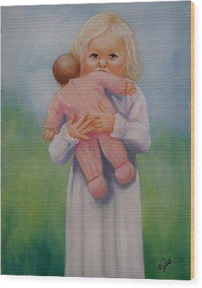 My Baby Wood Print by Joni McPherson