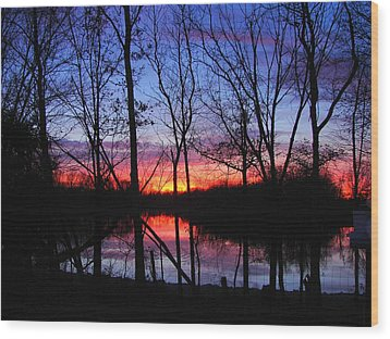 Wood Print featuring the photograph My Backyard by J R Seymour