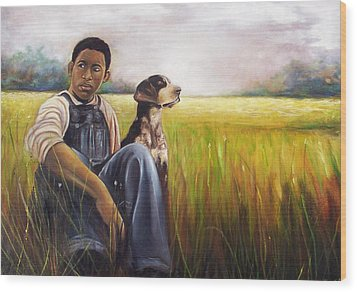 Wood Print featuring the painting My Best Friend by Emery Franklin