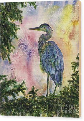 My Blue Heron Wood Print