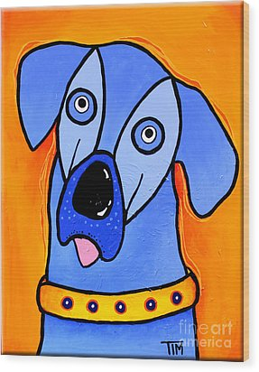 My Brother Is Blue Too Wood Print by Tim Ross