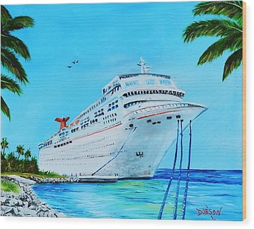 My Carnival Cruise Wood Print